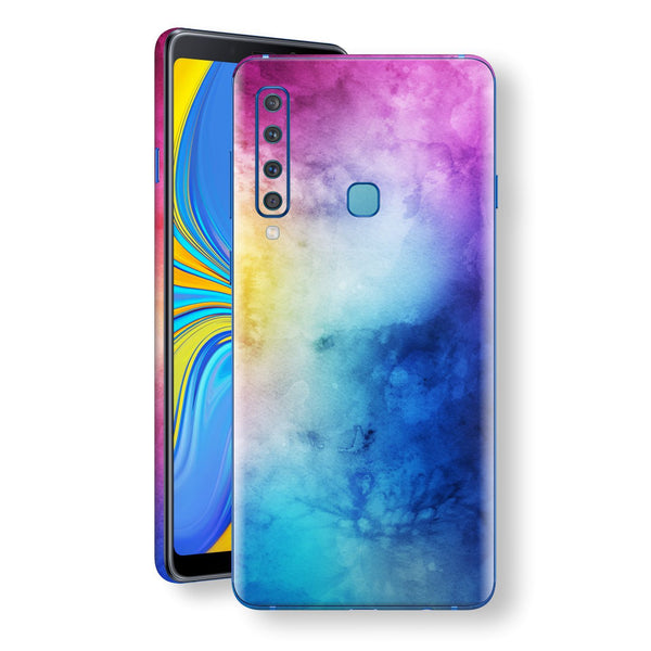 Samsung Galaxy A9 (2018) Signature Abstract Watercolour Purple Blue Skin Wrap Decal Protector | EasySkinz