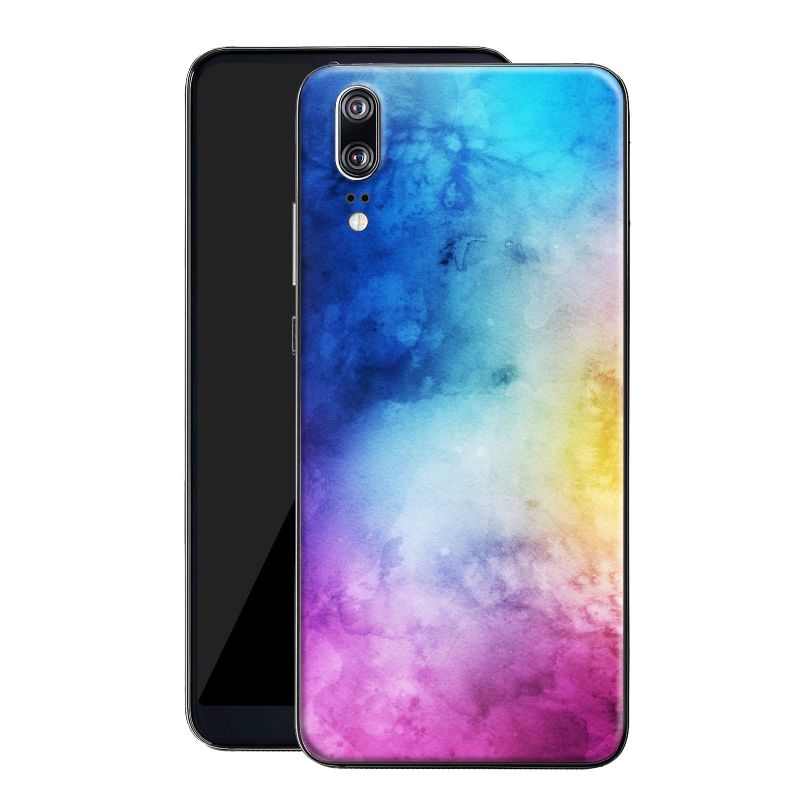 Huawei P20 Print Custom Signature Watercolour Purple-Blue Skin Wrap Decal by EasySkinz