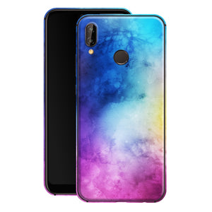 Huawei P20 LITE Print Custom Signature Watercolour Purple-Blue Skin Wrap Decal by EasySkinz