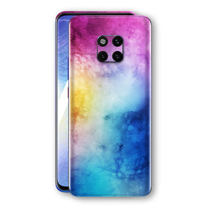 Huawei MATE 20 PRO Signature Abstract Watercolour Purple Blue Skin Wrap Decal Protector | EasySkinz