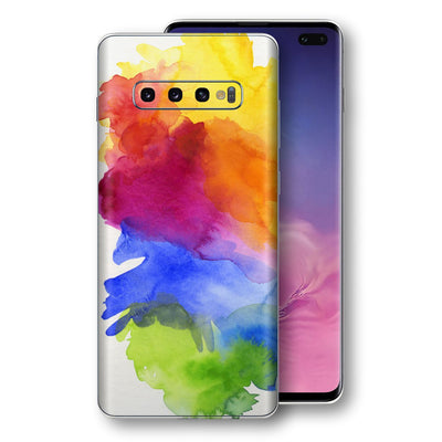 Samsung Galaxy S10+ PLUS Print Custom Signature AQUARELLE Skin Wrap Decal by EasySkinz