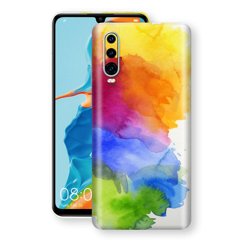 Huawei P30 Print Custom Signature AQUARELLE Skin Wrap Decal by EasySkinz