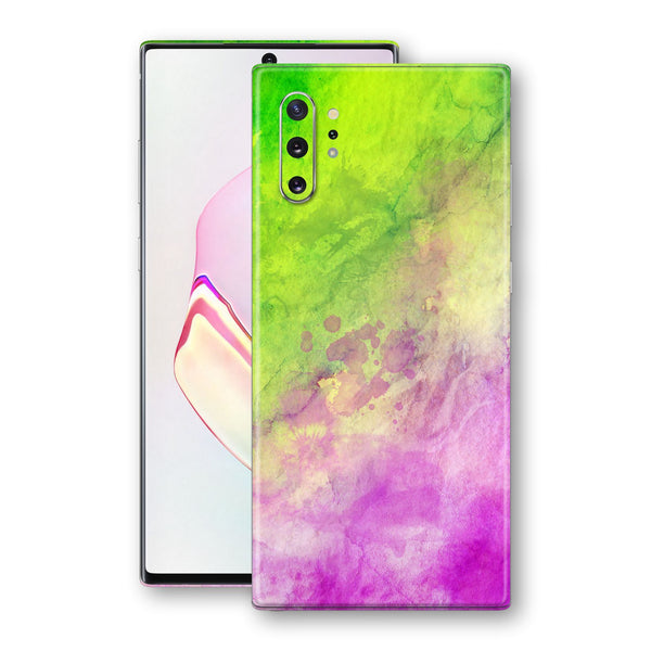 Samsung Galaxy NOTE 10+ PLUS Print Custom Signature Abstract Watercolour Pink Green 12 Skin Wrap Decal by EasySkinz - Design 12