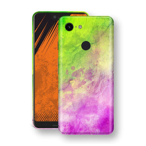 Google Pixel 3 XL Print Custom Signature Abstract Watercolour Pink Green 12 Skin Wrap Decal by EasySkinz - Design 12