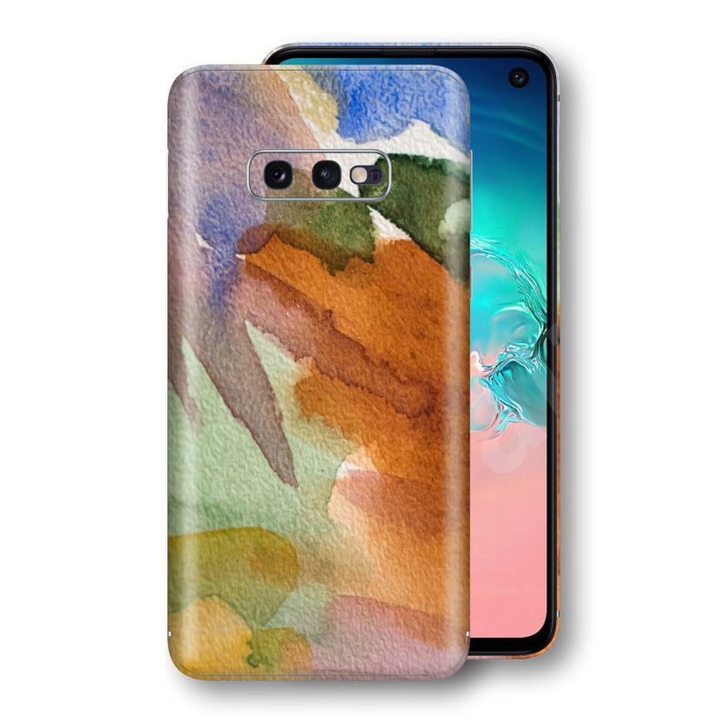 Samsung Galaxy S10e Print Custom Signature Warm Watercolour Pastel Skin Wrap Decal by EasySkinz
