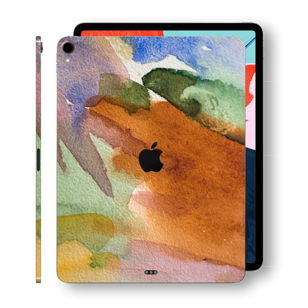 "iPad PRO 11"" inch 2018 Signature Warm Watercolour PASTEL Printed Skin Wrap Decal Protector 