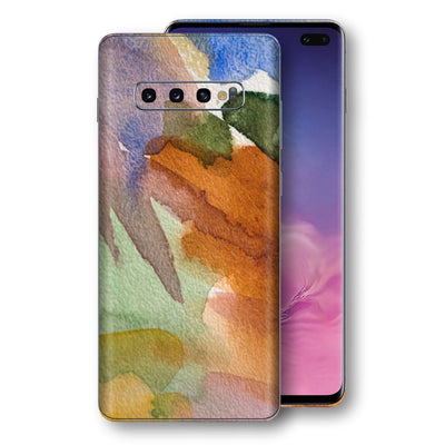 Samsung Galaxy S10+ PLUS Print Custom Signature Warm Watercolour Pastel Skin Wrap Decal by EasySkinz