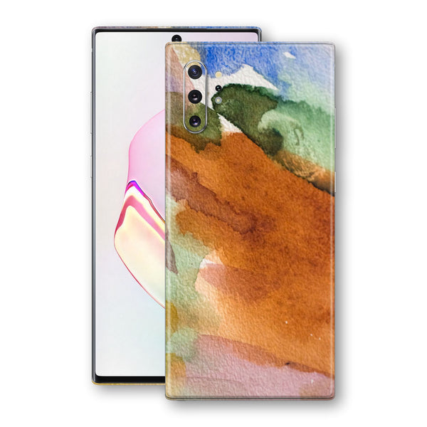 Samsung Galaxy NOTE 10+ PLUS Print Custom Signature Warm Watercolour Pastel Skin Wrap Decal by EasySkinz