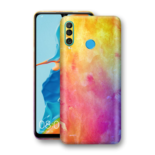 Huawei P30 LITE Print Custom Signature Watercolour Yellow Purple Red Skin Wrap Decal by EasySkinz