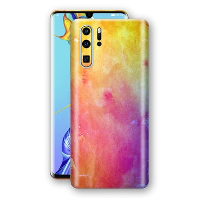 Huawei P30 PRO Print Custom Signature Watercolour Yellow Purple Red Skin Wrap Decal by EasySkinz