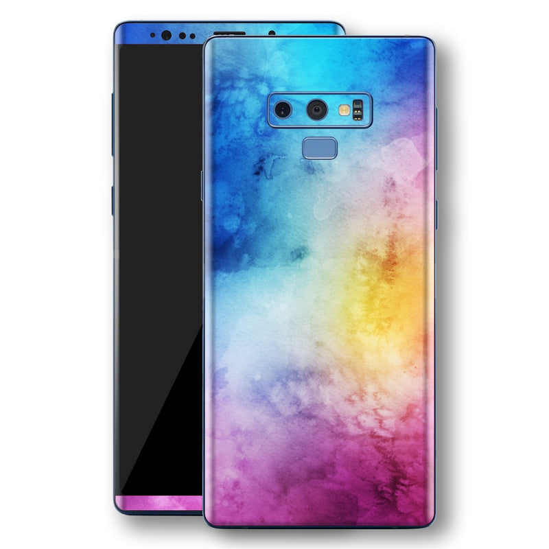 Samsung Galaxy NOTE 9 Signature Abstract Watercolour Purple Blue Skin Wrap Decal Protector | EasySkinz