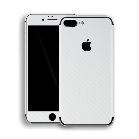 iPhone 7 Plus 3D Textured White Carbon Fibre Fiber Skin, Decal, Wrap, Protector, Cover by EasySkinz | EasySkinz.com