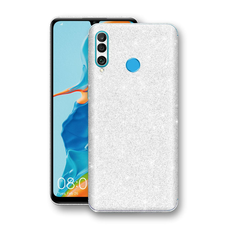 Huawei P30 LITE Diamond White Shimmering, Sparkling, Glitter Skin, Decal, Wrap, Protector, Cover by EasySkinz | EasySkinz.com