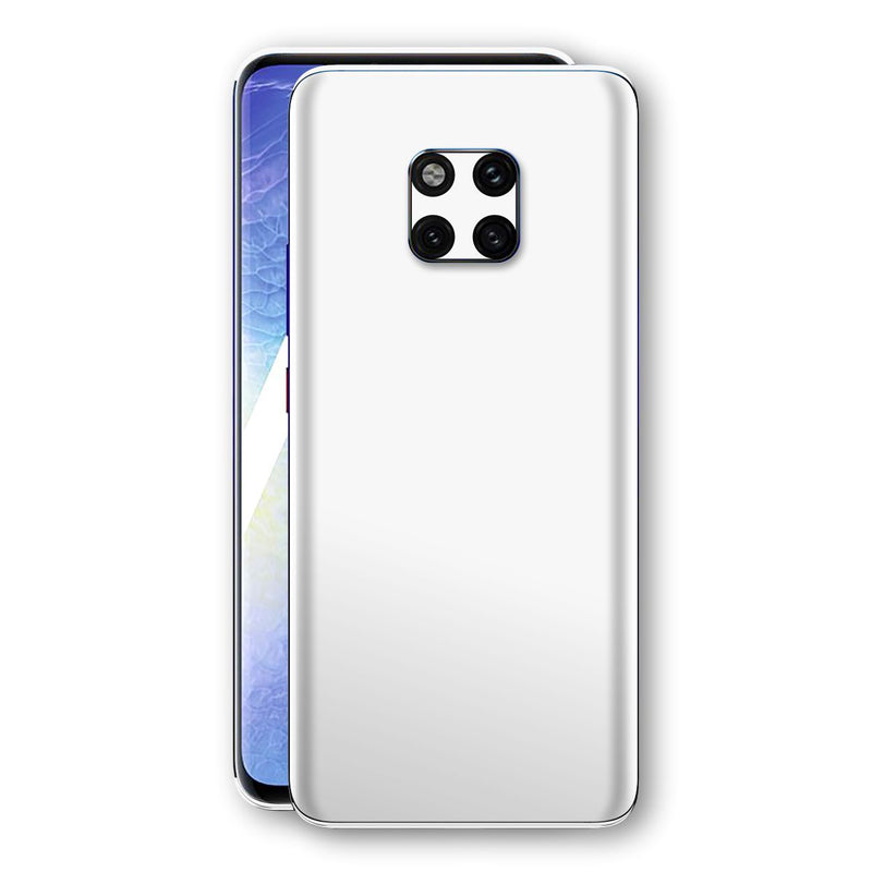 Huawei MATE 20 PRO White Glossy Gloss Finish Skin, Decal, Wrap, Protector, Cover by EasySkinz | EasySkinz.com