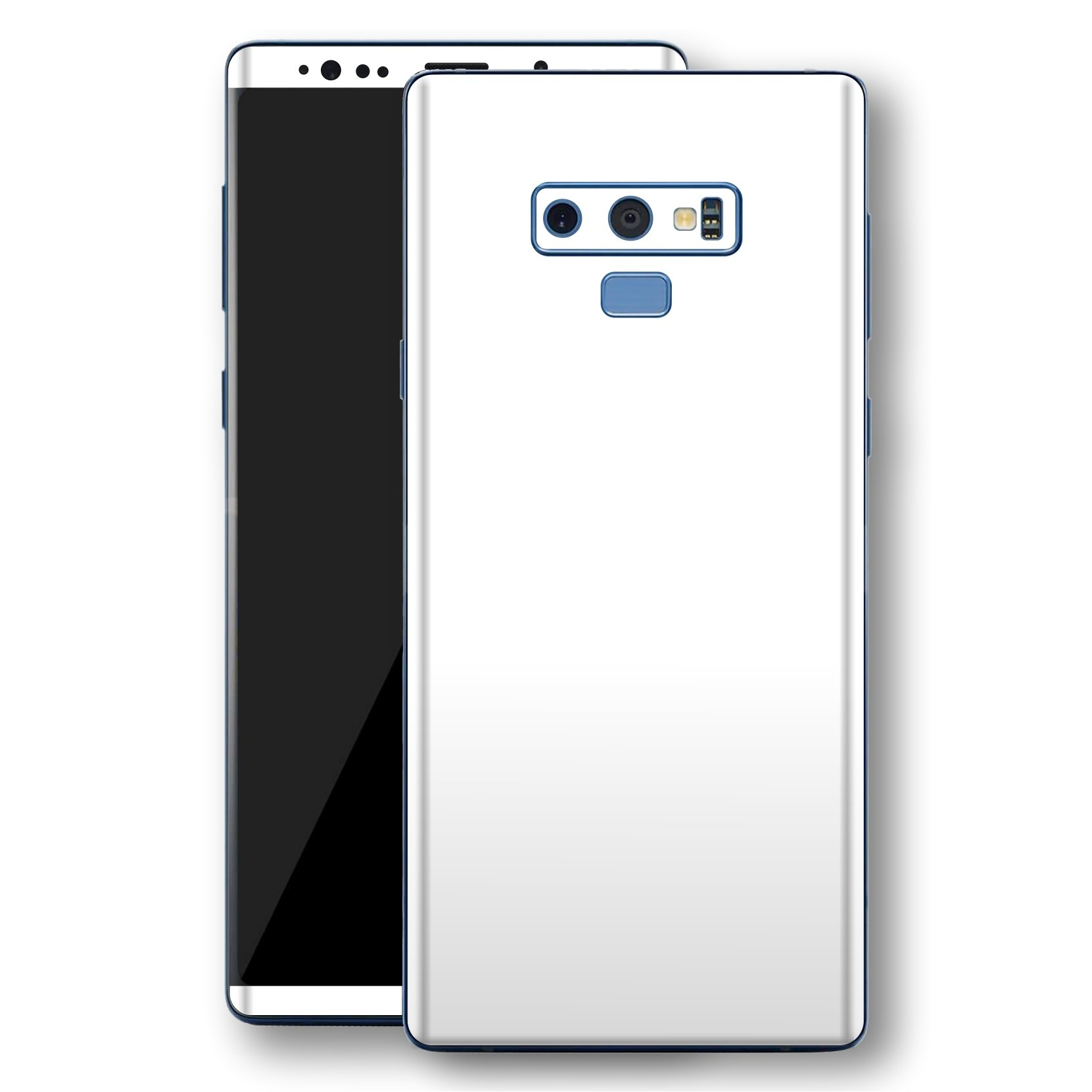 Samsung Galaxy NOTE 9 White Glossy Gloss Finish Skin, Decal, Wrap, Protector, Cover by EasySkinz | EasySkinz.com