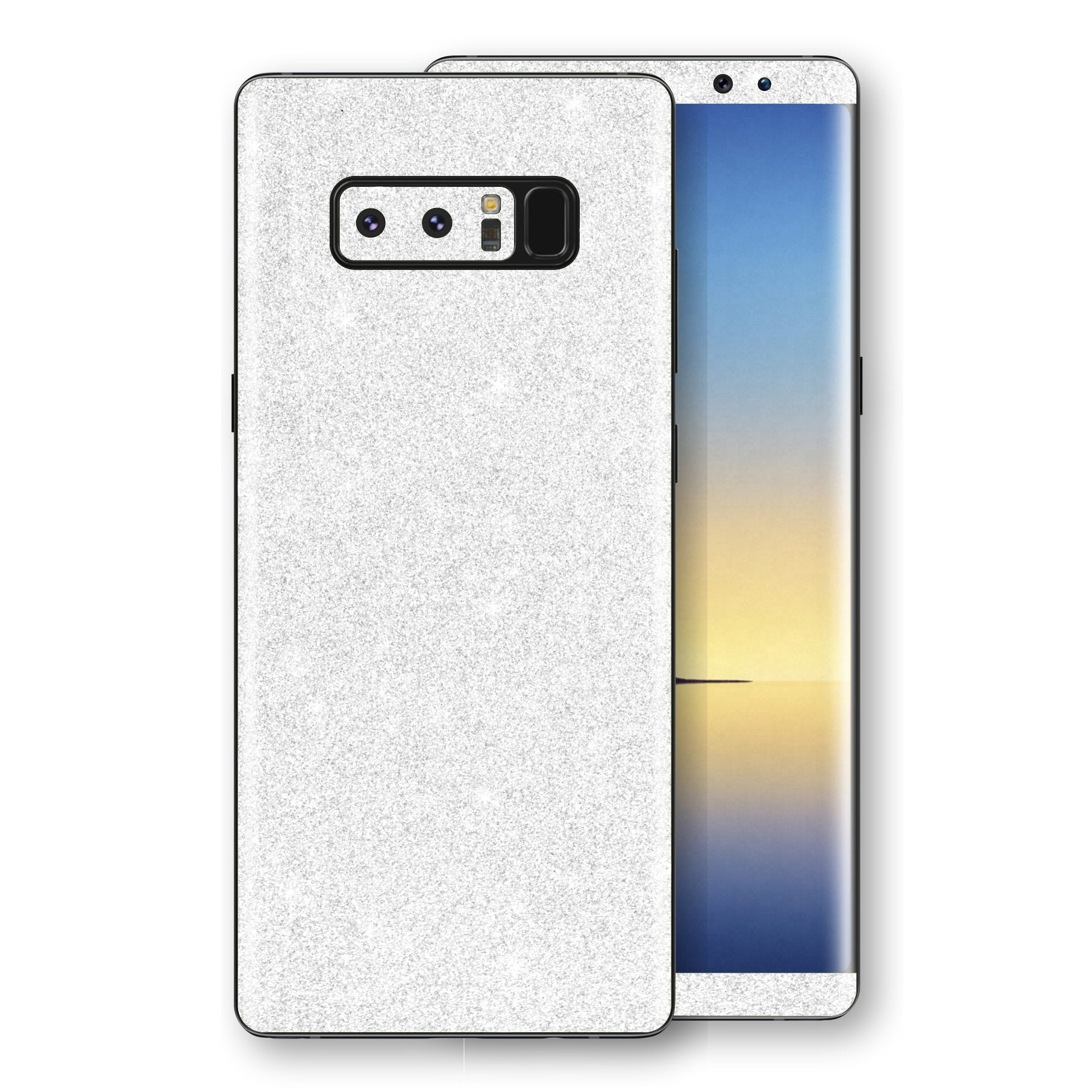 Samsung Galaxy NOTE 8 Diamond White Shimmering, Sparkling, Glitter Skin, Decal, Wrap, Protector, Cover by EasySkinz | EasySkinz.com