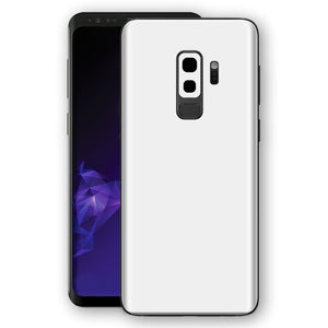 Samsung GALAXY S9+ PLUS WHITE Matt Skin, Decal, Wrap, Protector, Cover by EasySkinz | EasySkinz.com