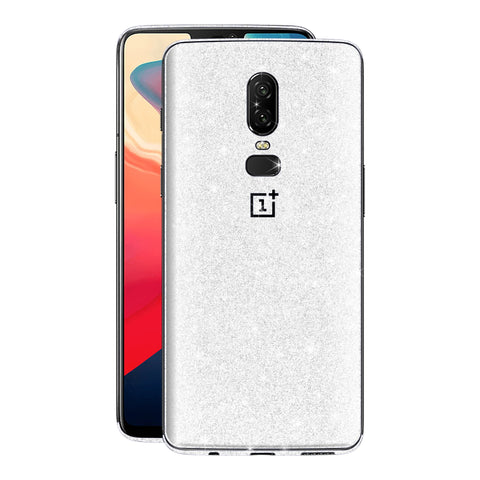 OnePlus 6 Diamond White Shimmering, Sparkling, Glitter Skin, Decal, Wrap, Protector, Cover by EasySkinz | EasySkinz.com