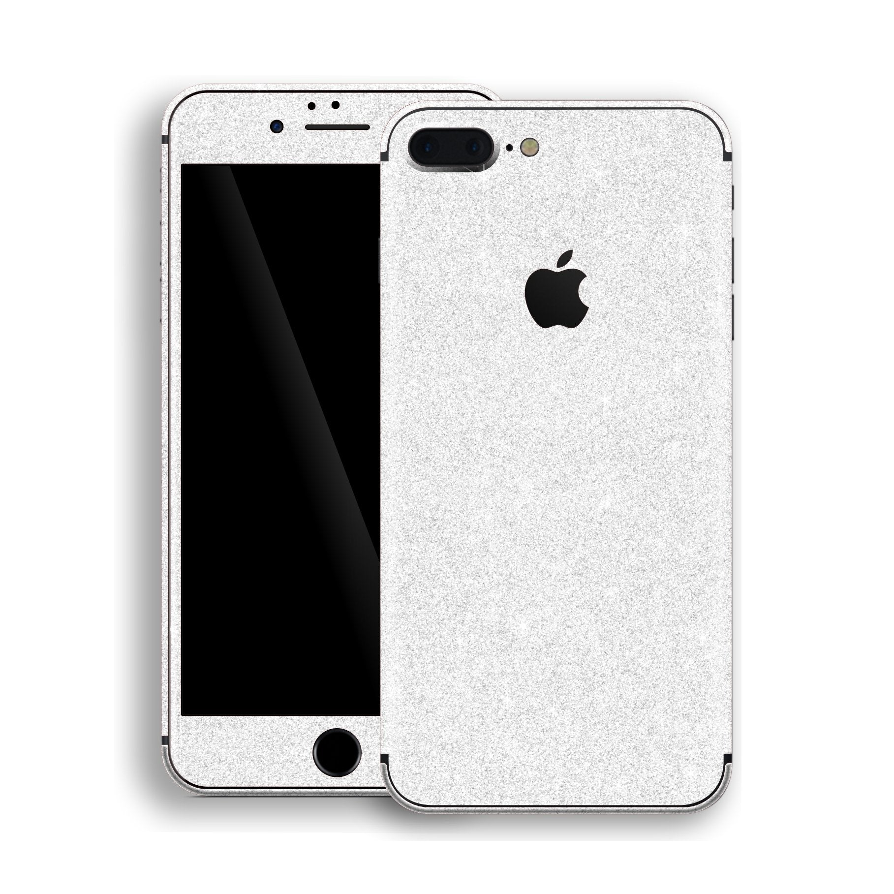 iPhone 8 Plus Diamond White Shimmering, Sparkling, Glitter Skin, Decal, Wrap, Protector, Cover by EasySkinz | EasySkinz.com