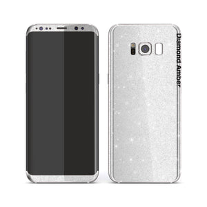 Samsung Galaxy S8 Diamond White Shimmering, Sparkling, Glitter Skin, Decal, Wrap, Protector, Cover by EasySkinz | EasySkinz.com