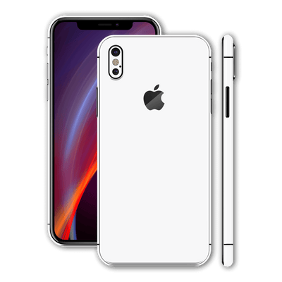 iPhone X Glossy WHITE Skin, Wrap, Decal, Protector, Cover by EasySkinz | EasySkinz.com