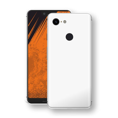Google Pixel 3 White Glossy Gloss Finish Skin, Decal, Wrap, Protector, Cover by EasySkinz | EasySkinz.com