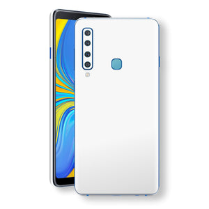 Samsung Galaxy A9 (2018) White Glossy Gloss Finish Skin, Decal, Wrap, Protector, Cover by EasySkinz | EasySkinz.com