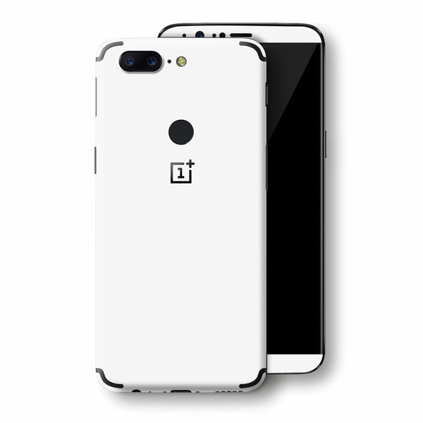 OnePlus 5T White Matt Skin, Decal, Wrap, Protector, Cover by EasySkinz | EasySkinz.com