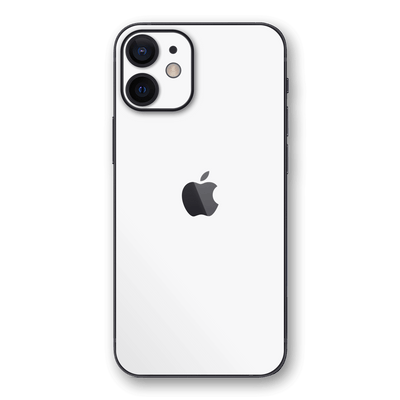 iPhone 12 mini Glossy WHITE Skin, Wrap, Decal, Protector, Cover by EasySkinz | EasySkinz.coR
