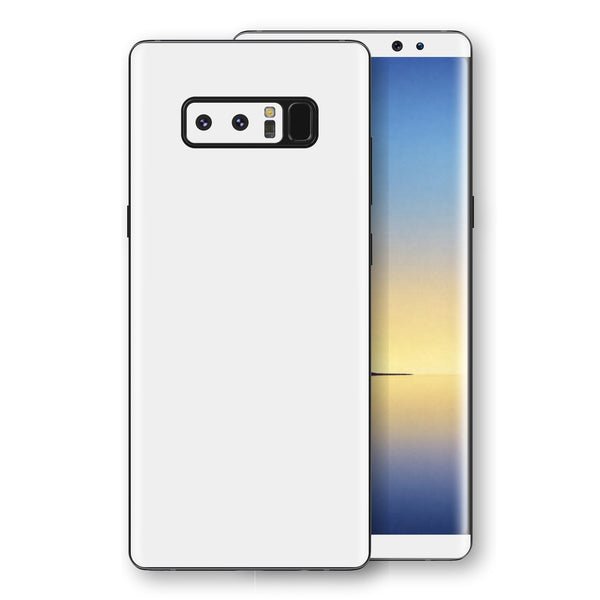 Samsung Galaxy NOTE 8 White Glossy Gloss Finish Skin, Decal, Wrap, Protector, Cover by EasySkinz | EasySkinz.com