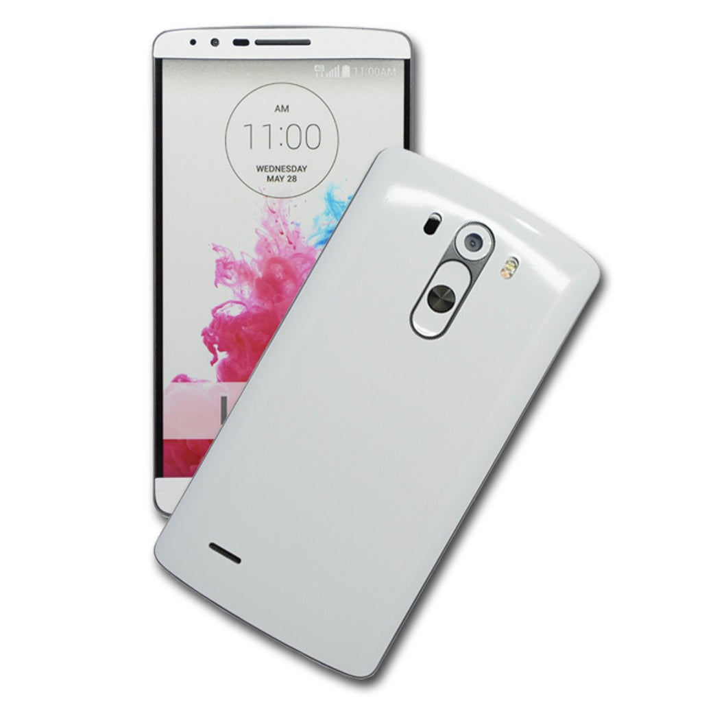 LG G3 Glossy White Skin Sticker Wrap Cover Decal Protector