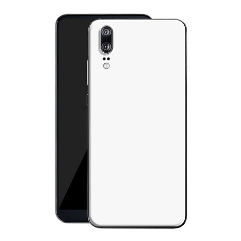 Huawei P20 White Matt Skin, Decal, Wrap, Protector, Cover by EasySkinz | EasySkinz.com