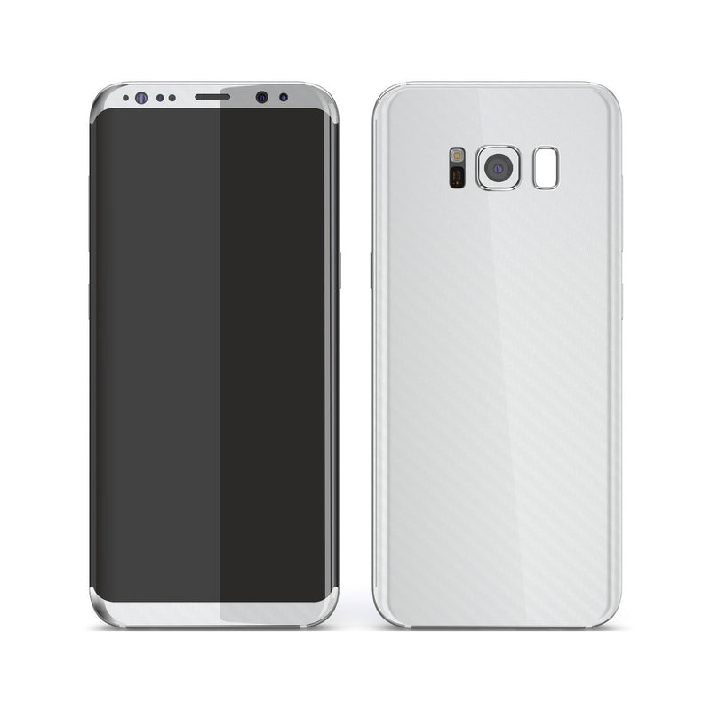Samsung Galaxy S8 3D Textured White Carbon Fibre Fiber Skin, Decal, Wrap, Protector, Cover by EasySkinz | EasySkinz.com