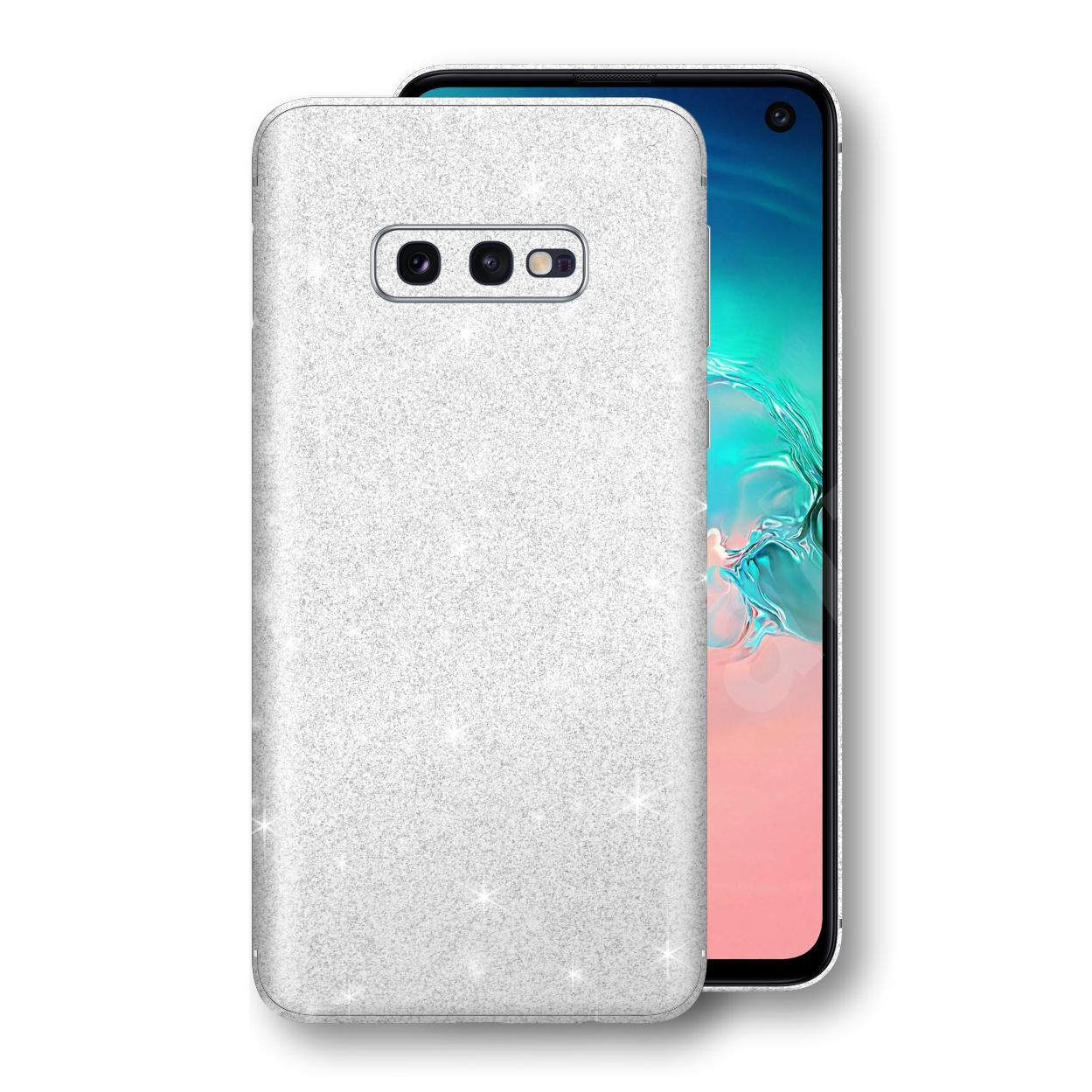 Samsung Galaxy S10e Diamond White Shimmering, Sparkling, Glitter Skin, Decal, Wrap, Protector, Cover by EasySkinz | EasySkinz.com