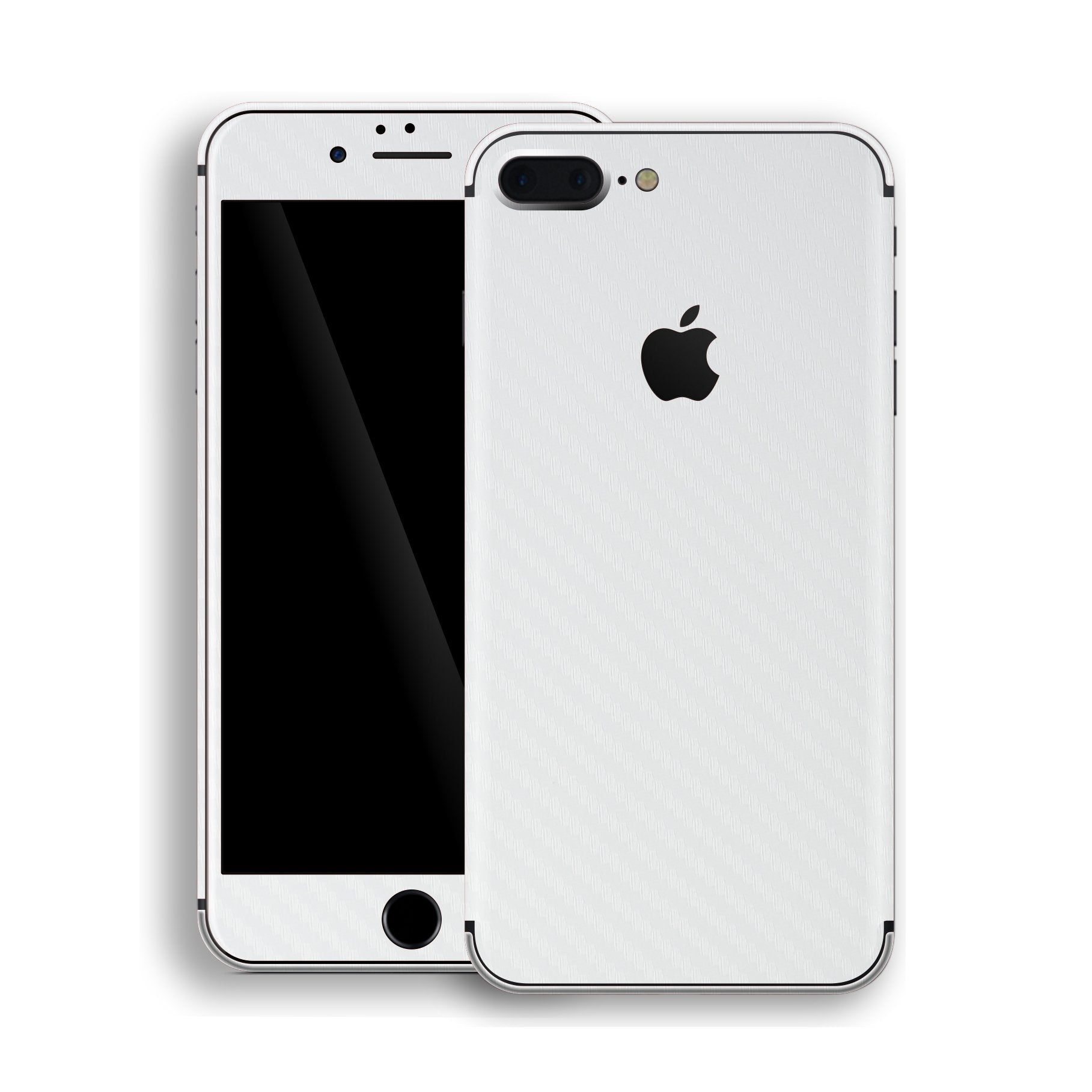iPhone 8 Plus 3D Textured White Carbon Fibre Fiber Skin, Decal, Wrap, Protector, Cover by EasySkinz | EasySkinz.com