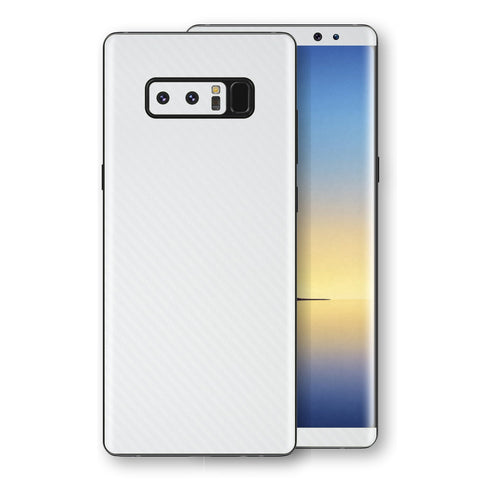 Samsung Galaxy NOTE 8 3D Textured White Carbon Fibre Fiber Skin, Decal, Wrap, Protector, Cover by EasySkinz | EasySkinz.com