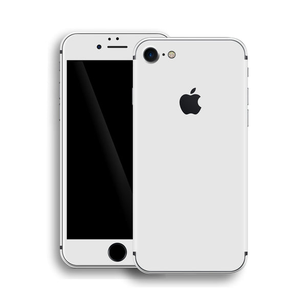 iPhone 8 White Matt Matte Skin, Wrap, Decal, Protector, Cover by EasySkinz | EasySkinz.com