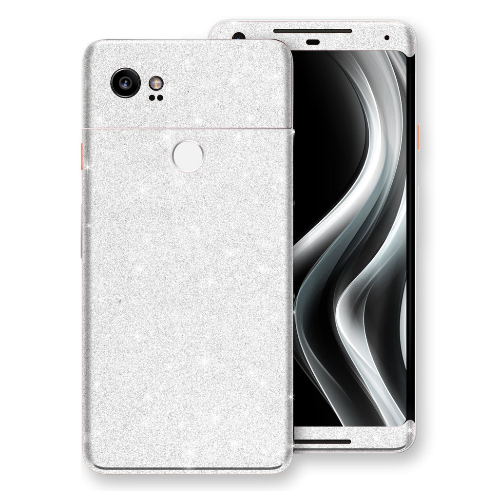 Google Pixel 2 XL Diamond White Shimmering, Sparkling, Glitter Skin, Decal, Wrap, Protector, Cover by EasySkinz | EasySkinz.com