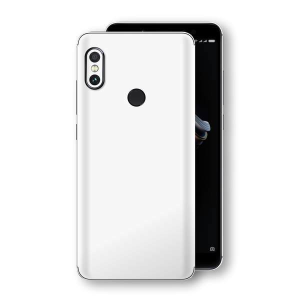 XIAOMI Redmi NOTE 5 White Glossy Gloss Finish Skin, Decal, Wrap, Protector, Cover by EasySkinz | EasySkinz.com