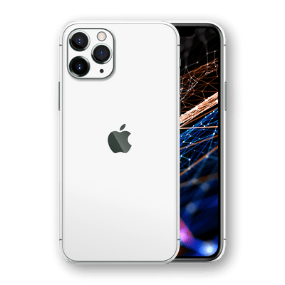 iPhone 11 PRO White Matt Matte Skin, Wrap, Decal, Protector, Cover by EasySkinz | EasySkinz.com  Edit alt text