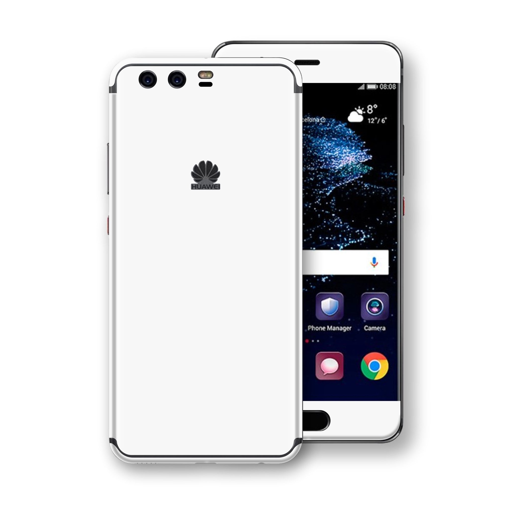 Huawei P10  White Glossy Gloss Finish Skin, Decal, Wrap, Protector, Cover by EasySkinz | EasySkinz.com