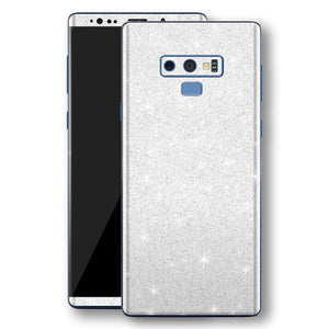 Samsung Galaxy NOTE 9 Diamond White Shimmering, Sparkling, Glitter Skin, Decal, Wrap, Protector, Cover by EasySkinz | EasySkinz.com
