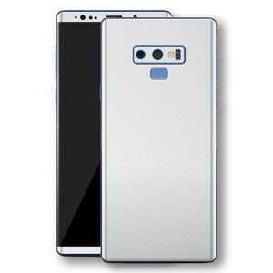Samsung Galaxy NOTE 9 3D Textured White Carbon Fibre Fiber Skin, Decal, Wrap, Protector, Cover by EasySkinz | EasySkinz.com