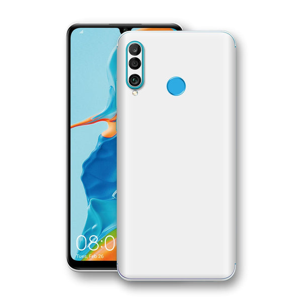 Huawei P30 LITE White Glossy Gloss Finish Skin, Decal, Wrap, Protector, Cover by EasySkinz | EasySkinz.com