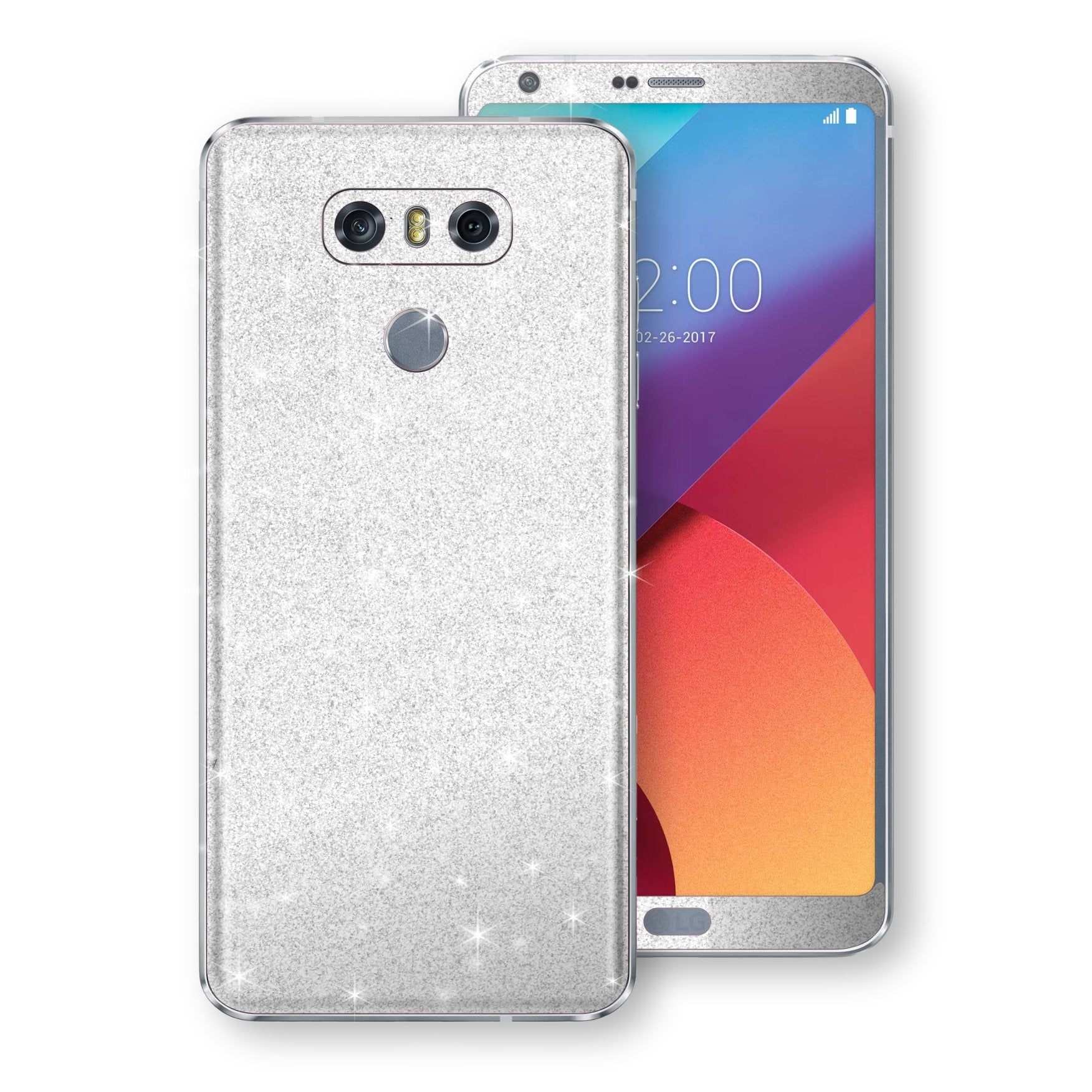 LG G6 Diamond White Shimmering, Sparkling, Glitter Skin, Decal, Wrap, Protector, Cover by EasySkinz | EasySkinz.com