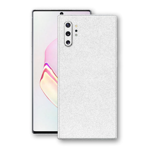 Samsung Galaxy NOTE 10+ PLUS Diamond White Shimmering, Sparkling, Glitter Skin, Decal, Wrap, Protector, Cover by EasySkinz | EasySkinz.com