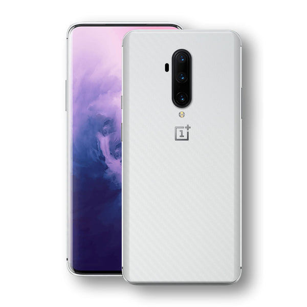 OnePlus 7T PRO 3D Textured White Carbon Fibre Fiber Skin, Decal, Wrap, Protector, Cover by EasySkinz | EasySkinz.com