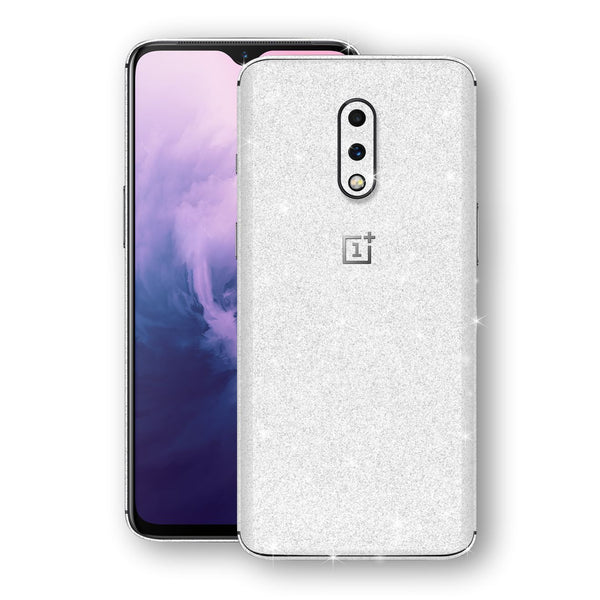 OnePlus 7 Diamond White Shimmering, Sparkling, Glitter Skin, Decal, Wrap, Protector, Cover by EasySkinz | EasySkinz.com