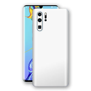 Huawei P30 PRO White Glossy Gloss Finish Skin, Decal, Wrap, Protector, Cover by EasySkinz | EasySkinz.com