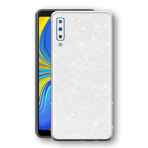 Samsung Galaxy A7 (2018) Diamond White Shimmering, Sparkling, Glitter Skin, Decal, Wrap, Protector, Cover by EasySkinz | EasySkinz.com